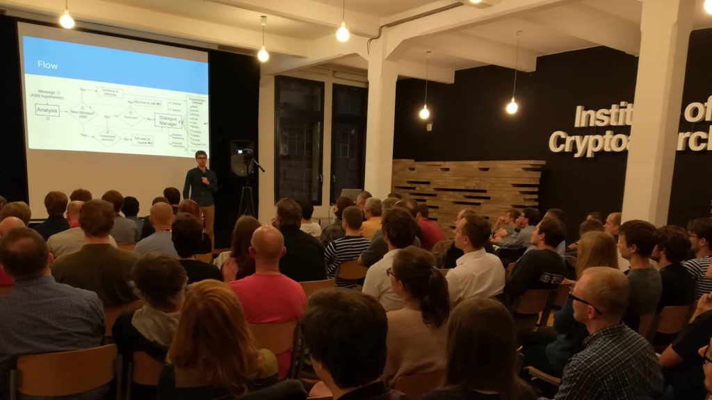 Alquist team presenting at Machine Learning Meetup Prague